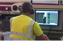 Motor en proceso de monitorizado